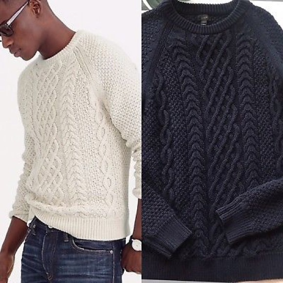 03f833737 J. Crew Other - J. Crew Men s Cotton Cable Knit Sweater